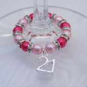 21st Birthday Wine Glass Charm - Full Sparkle Style